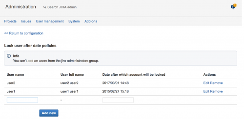 JIRA Admin group
