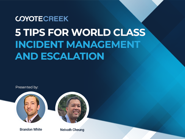 5 Tips for World Class Incident Management
